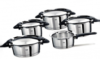 Набор кастрюль Fissler Intensa, black series, 5 предметов