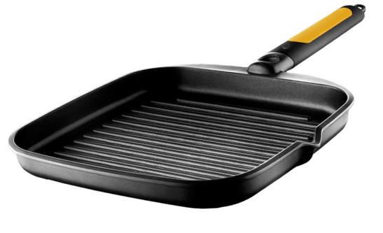 Сковорода гриль с крышкой для индукционной плиты